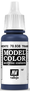 187 Transparent Blau