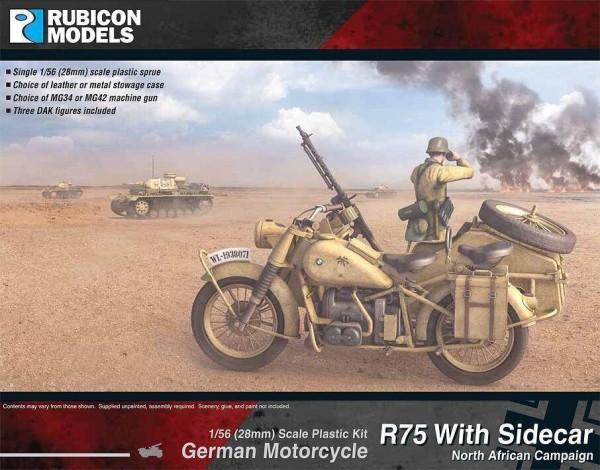 German Motorcycle R75 with Sidecar - DAK