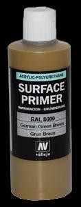 Vallejo Surface Primer German Green Brown (RAL8000) (200ml)