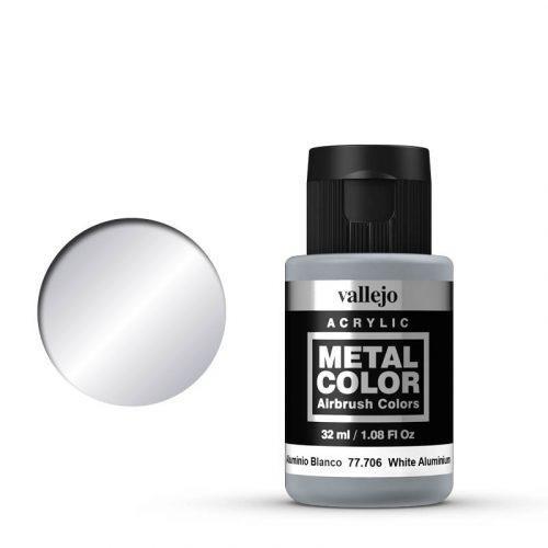 Vallejo Metal Color 706 White Aluminium 32 ml.