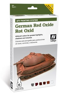 Model Air Set AFV German Red Oxide Set (6)