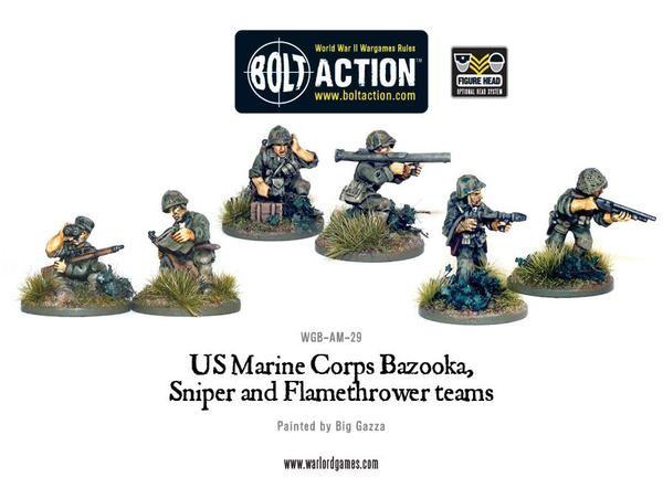 USMC Bazooka, Sniper and Flamethrower teams
