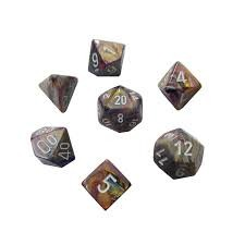 Festive™ Carousel w/white Signature™ Polyhedral 7-Die Sets