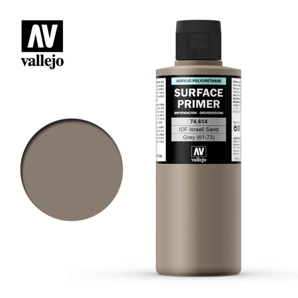 Vallejo Surface Primer IDF Israeli Sand Grey (200ml)