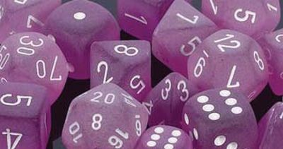 Frosted™ Polyhedral Purple/white 1 (36 Dice)