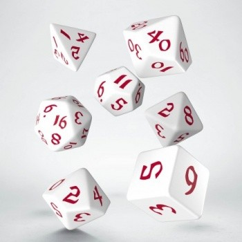 Classic Runic White & red Dice Set (7)