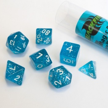 16mm Role Playing Dice Set - Magic Blue (7 Dice)