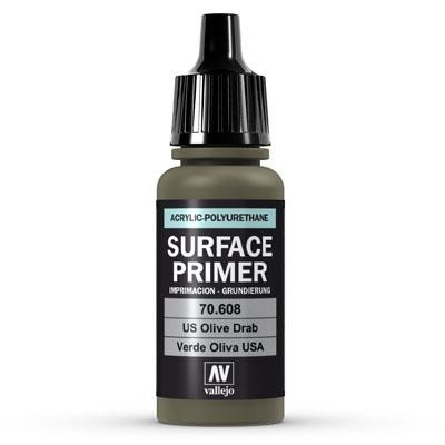 Vallejo Surface Primer U.S. Olive Drab 17ml