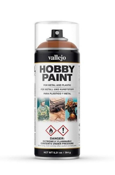 Vallejo Hobby Paint Spray Leather Brown