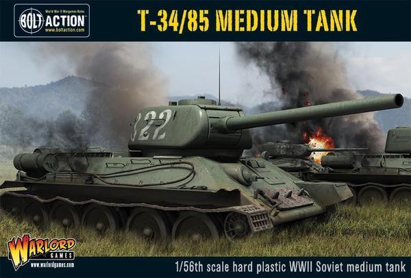 T-34/85 medium tank (plastic)