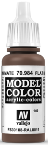140 Terrabraun Dunkel (Flat Brown)