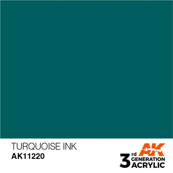 Turquoise - Ink
