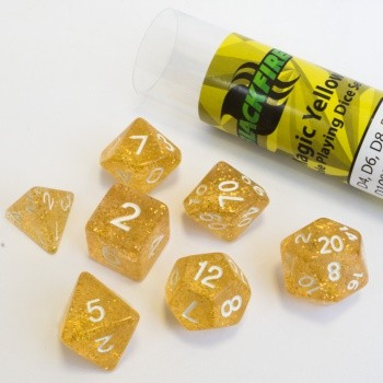 16mm Role Playing Dice Set - Magic Yellow (7 Dice)