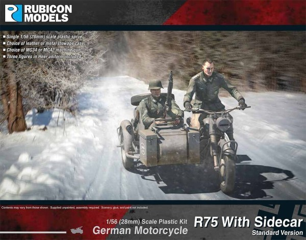German Motorcycle R75 with Sidecar - ETO