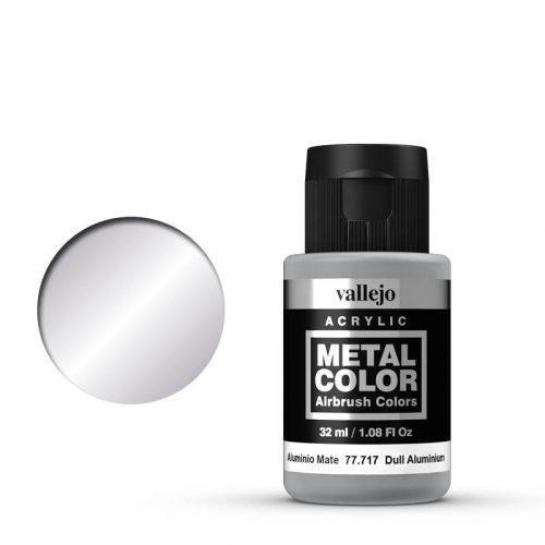 Vallejo Metal Color 717 Dull Aluminium 32 ml.