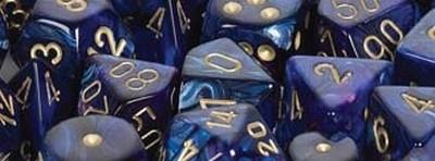 Scarab™ Royal Blue w/gold Signature™ Polyhedral 7-Die Set