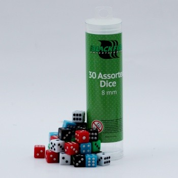 8mm Assorted D6 Dice (30 Dice)